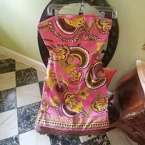 Laundry strapless paisley dress